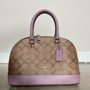BRAND NEW WT Coach Khaki Purple Purse